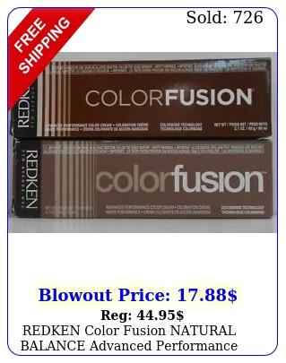 redken color fusion natural balance advanced performance hair color  fl o