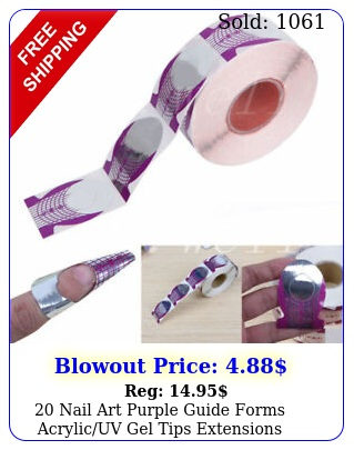 nail art purple guide forms acrylicuv gel tips extensions manicure sticker