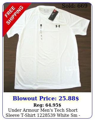 under armour men's tech short sleeve tshirt  white  sm x
