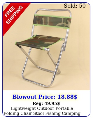 lightweight outdoor portable folding chair stool fishing camping hiking picni