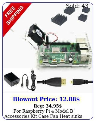 raspberry pi model b accessories kit case fan heat sinks power hdmi cabl