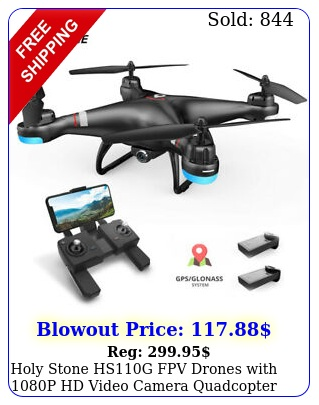 holy stone hsg fpv drones with p hd video camera quadcopter gps follow m