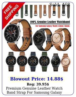 premium genuine leather watch band strap samsung galaxy watch mm m