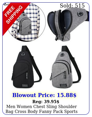 men women chest sling shoulder bag cross body fanny pack sports travel backpac