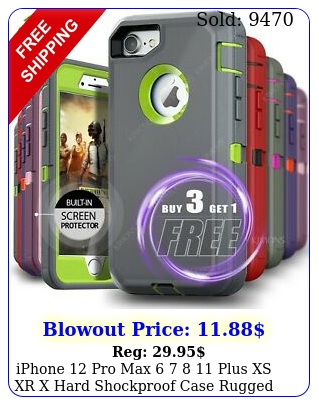 iphone pro max   plus xs xr x hard shockproof case rugged hard cove