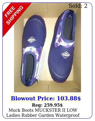 muck boots muckster ii low ladies rubber garden waterproof flexible shoes blu