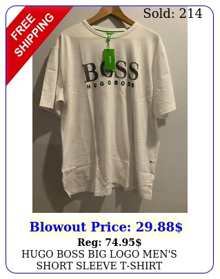 hugo boss big logo men's short sleeve tshir