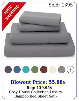 cosy house collection luxury bamboo bed sheet set hypoallergenic deep pocke