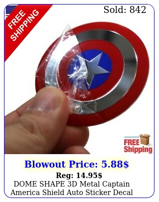 dome shape d metal captain america shield auto sticker decal emble