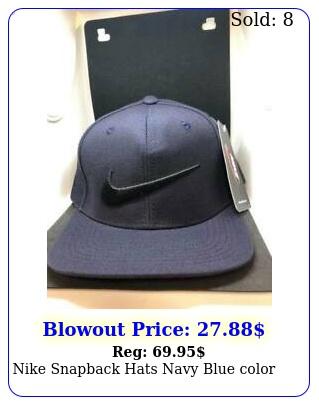 nike snapback hats navy blue colo