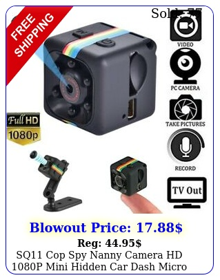 sq cop spy nanny camera hd p mini hidden car dash micro cam night visio