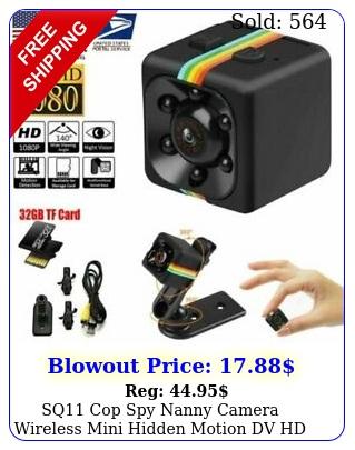 sq cop spy nanny camera wireless mini hidden motion dv hd p car dash ca
