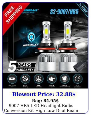hb led headlight bulbs conversion kit high low dual beam k super whit