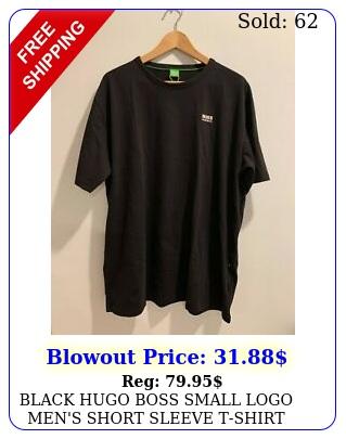 black hugo boss small logo men's short sleeve tshir