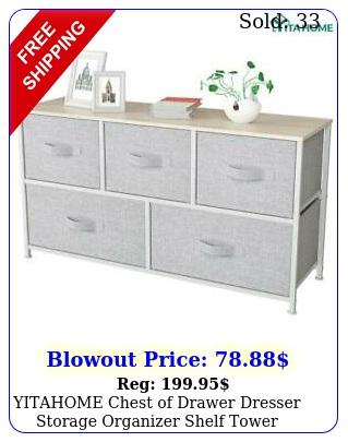 yitahome chest of drawer dresser storage organizer shelf tower bedroom offic