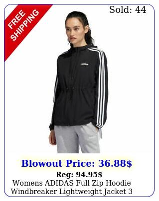 womens adidas full zip hoodie windbreaker lightweight jacket stripe variet