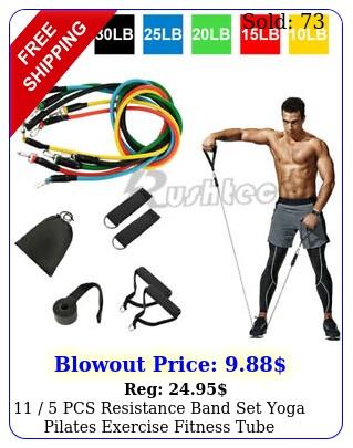 pcs resistance band set yoga pilates exercise fitness tube workout band