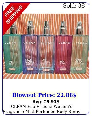 clean eau fraiche women's fragrance mist perfumed body spray u pick oz testr