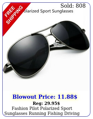 fashion pilot polarized sport sunglasses running fishing driving antiuv glasse