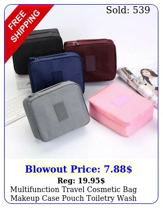 multifunction travel cosmetic bag makeup case pouch toiletry wash organizer ba