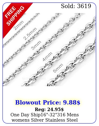 one day ship mens womens silver stainless steel necklaces cross chain
