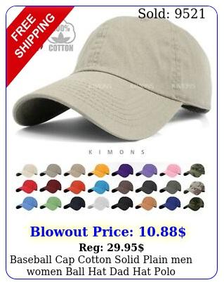 baseball cap cotton solid plain men women ball hat dad hat polo washed ball p