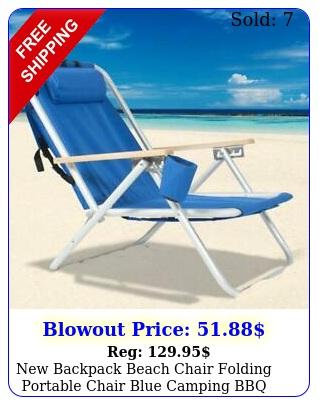 backpack beach chair folding portable chair blue camping bbq suppl