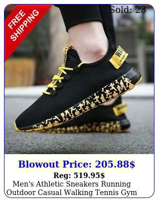 men's athletic sneakers running outdoor casual walking tennis gym sports shoe