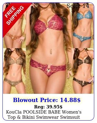 koucla poolside babe women's top bikini swimwear swimsuit bikini set sm