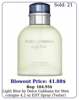 light blue by dolce gabbana men cologne  oz edt spray tester brand ne