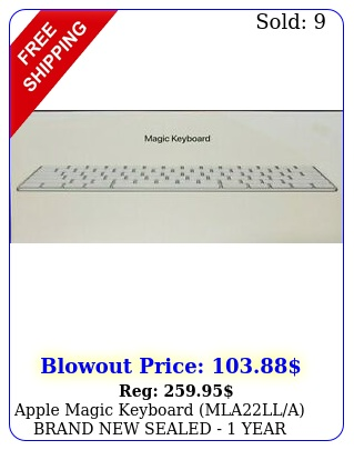 apple magic keyboard mlalla brand sealed  year apple warrant