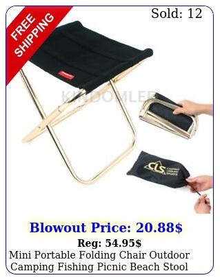 mini portable folding chair outdoor camping fishing picnic beach stool sea