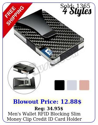 men's wallet rfid blocking slim money clip credit id card holder thin minimalis
