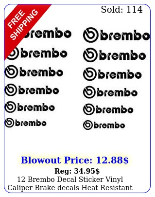 brembo decal sticker vinyl caliper brake decals heat resistant cast viny