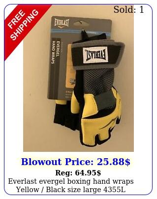 everlast evergel boxing hand wraps yellow black size large