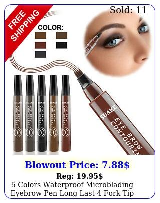 colors waterproof microblading eyebrow pen long last fork tip tattoo penci