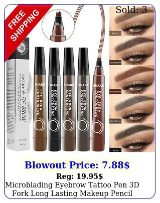 microblading eyebrow tattoo pen d fork long lasting makeup pencil waterproof u