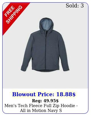 men's tech fleece full zip hoodie all in motion navy
