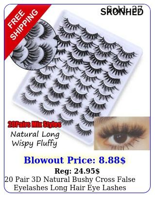 pair d natural bushy cross false eyelashes long hair eye lashes blac