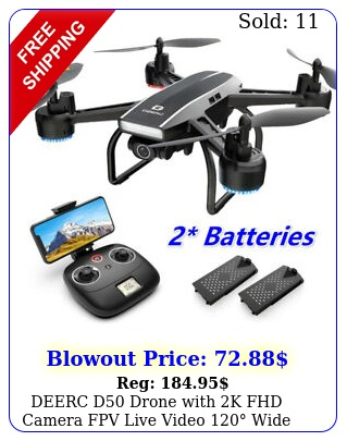 deerc d drone with k fhd camera fpv live video wide angle rc quadcopter