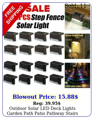 outdoor solar led deck lights garden path patio pathway stairs step fence lam