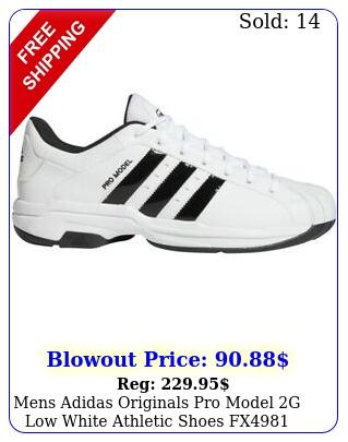 mens adidas originals pro model g low white athletic shoes fx size