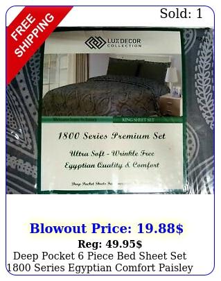deep pocket piece bed sheet set series egyptian comfort paisley sheet