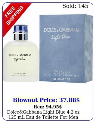 dolcegabbana light blue oz ml eau de toilette men brand seale
