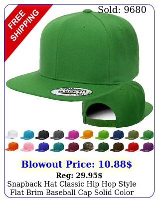 snapback hat classic hip hop style flat brim baseball cap solid color blank hat