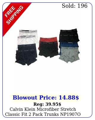 calvin klein microfiber stretch classic fit pack trunks np