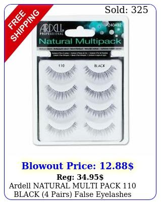 ardell natural multi pack black pairs false eyelashes fake lashe