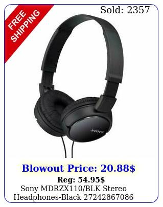 sony mdrzxblk stereo headphonesblac