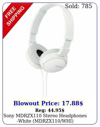 sony mdrzx stereo headphones white mdrzxwh
