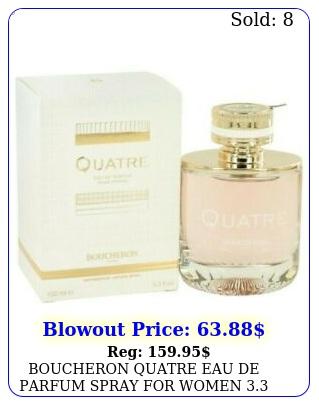 boucheron quatre eau de parfum spray women oz  ml brand in bo